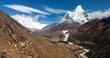 Ama Dablam, Lhotse, Nuptse and top of Mount Everest