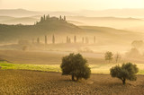 Mystical morning in the valley of the Orcia, Tuscany