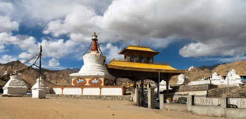 Stupas and Friendship Gate in Leh