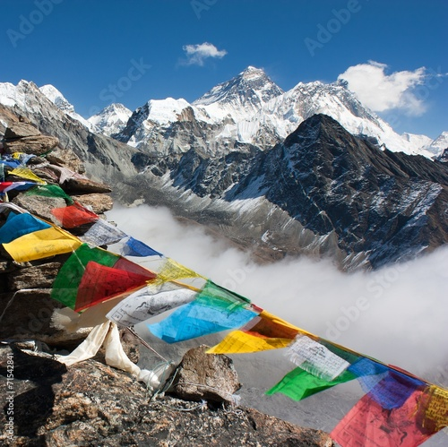 view of everest from gokyo ri - way to Everest base camp - 71542841