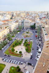 View from above of Queen's Square in Valencia, Spain
