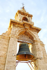 Antique bell at bell tower