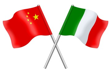 Flags: China and Italy