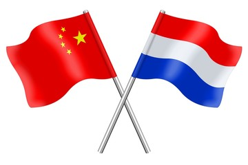 Flags: China and the Netherlands