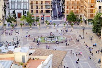 View from above of Virgin's Square in Valencia, Spain