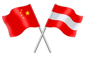 Flags: China and Austria