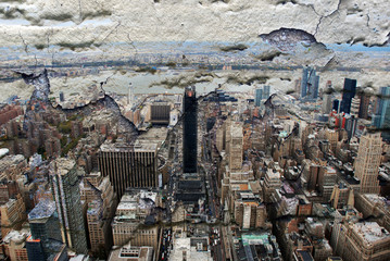 New York city grunge and retro style