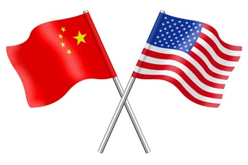 Flags: China and the USA