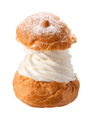 Deluxe Cream Puff isolated