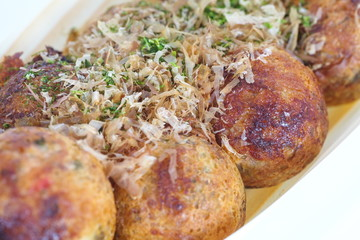 Takoyaki ,ball - shaped Japanese snack