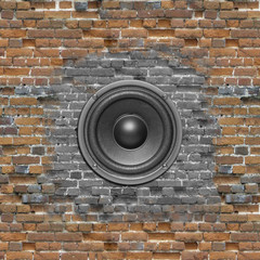 audio speaker wall background