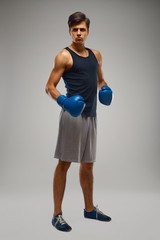 Boxing. Young Boxer ready to fight
