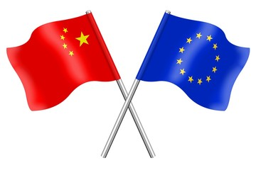 Flags: China and Europe