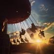 fairground sunset - 71544876