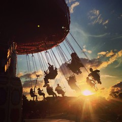 fairground sunset