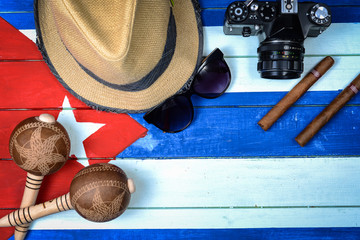 Cuba related items on national flag