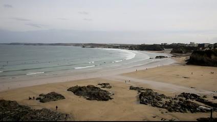 Newquay beach North Cornwall England UK
