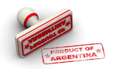 Продукт Аргентины (product of Argentina). Печать и оттиск