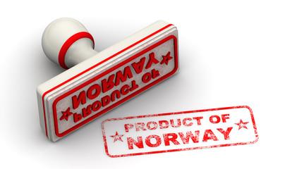 Продукт Норвегии (product of Norway). Печать и оттиск