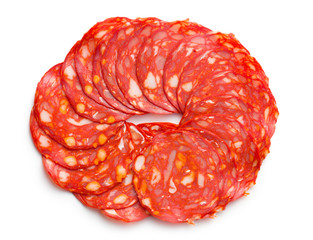 sliced chorizo salami