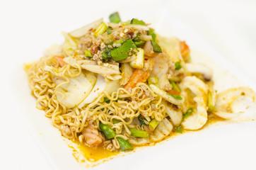 Instant noodle spicy salad, Thai cuisine