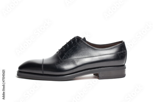 canvas print picture leather shoes on a white background