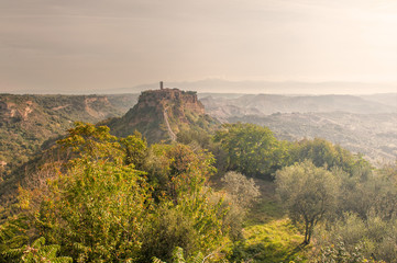 The dying city Civita di Bagnoregio in Latium, Italy