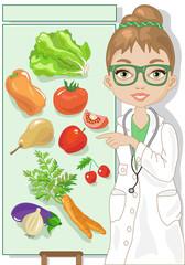 Vegetarian Diet-Dietologa con vegetali