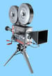 Old style movie camera , isolated