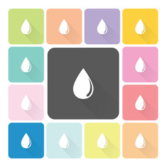 Water Icon color set vector illustration.