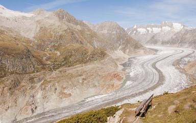 Riederalp, Dorf, Gletscherzunge, Aletsch, Alpen, Schweiz