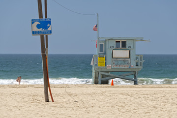 los angeles venice beach tsunami sign