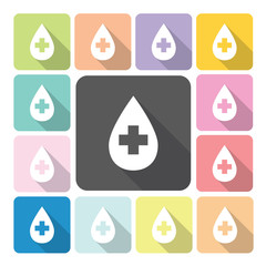Blood Icon color set vector illustration.