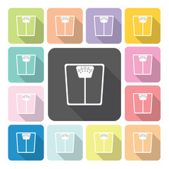 Scale Icon color set vector illustration.