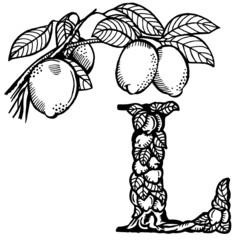 lemon Letter L