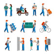 Delivery icons flat - 71548681