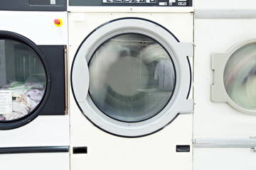 Image of washing machine drum, close-up