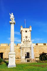 Puerta de Tierra, fortress of Cadiz, Andalusia, Spain