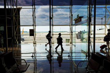Interior of a modern airport. Spain