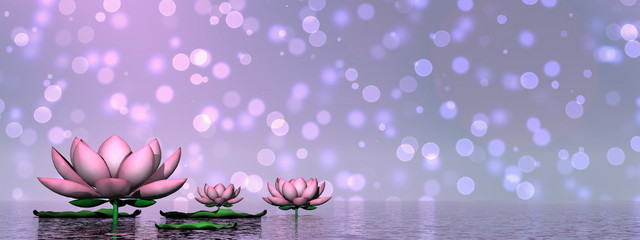 Lily flowers - 3D render