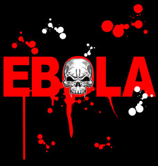 ebola virus design on black background