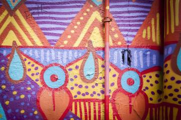 Mur de graffiti formes