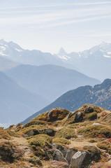 Bettmeralp, Bergdorf, Bergpanorama, Walliser Alpen, Schweiz