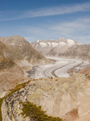 Bettmeralp, Dorf, Aletschgletscher, Walliser Alpen, Schweiz