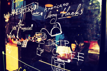 text coffee menu