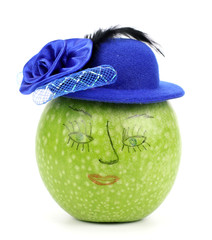 Apple with  Hat