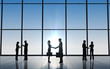 Two Business shake hand silhouettes - 71550054