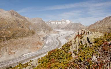 Bettmeralp, Bergdorf, Schweizer Alpen, Gletscher, Wallis
