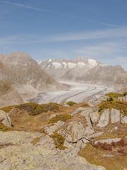Riederalp, Dorf, Gletscher, Alpen, Wallis, Herbst, Schweiz