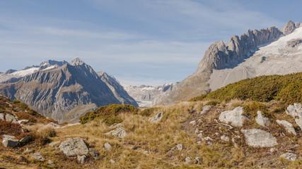 Riederalp, Dorf, Fusshörner, Walliser Alpen, Aletsch, Schweiz